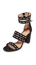 Alexa Wagner Strappy Sandals Black White
