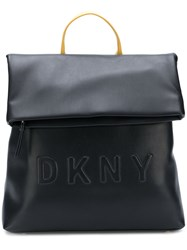 Dkny Logo Embossed Backpack Black