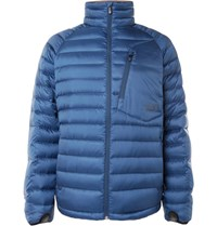 Burton Bk Insulator Quilted Shell Down Jacket Blue