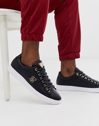 Sik Silk Siksilk Trainers In Black With Gold Logo