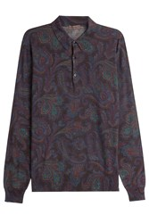 Etro Printed Top With Wool Silk And Cashmere Multicolor
