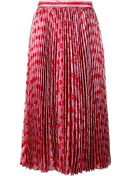 Gucci Heart Pleated Skirt Red