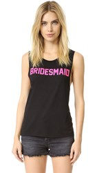 Private Party Bridesmaid Tank Black
