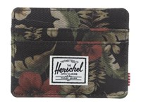 Herschel Charlie Hawaiian Camo Credit Card Wallet Black