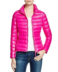 Aqua Packable Down Puffer Jacket Shiny Hot Pink