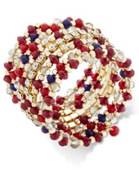 Inc International Concepts Gold Tone Berry Beaded Coil Bracelet Only At Macy's