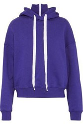 Goen.J Oversized French Cotton Terry Hoodie Violet