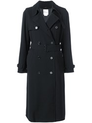 Comme Des Garcons Noir Kei Ninomiya Double Breasted Trench Coat Black