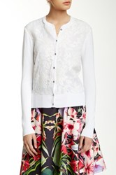 Ted Baker Onivia Long Sleeve Floral Cardigan White