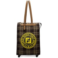 Fendi Brown And Beige 'Roma Italy 1925' Trolley Tote