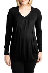 Women's Maternal America Quilted Nursing Top Black Black