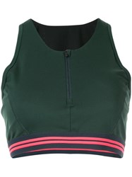 Lndr Fitted Zip Up Top Green