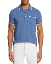 Bloomingdale's The Men's Store At Tipped Regular Fit Polo Shirt Moonlight Blue