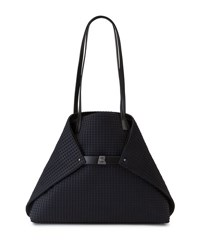 Akris Ai Medium Techno Fabric Shoulder Bag Black
