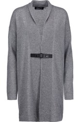 Magaschoni Cable Knit Cashmere Cardigan Gray