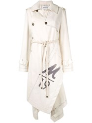 Monse Canvas Trench Coat Neutrals