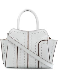 Tod's Sella Studded Tote White