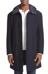 Moncler Men's Tilleul Reversible Hooded Down Overcoat