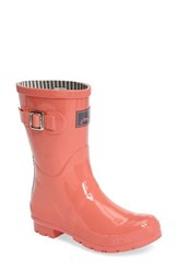 Joules Women's 'Kelly Welly' Rain Boot Coral