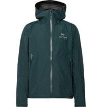 Arc'teryx Zeta Sl Slim Fit Gore Tex Hooded Jacket Petrol