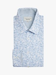 Ted Baker Conught Floral Print Shirt Blue