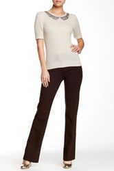 Nydj Stretch Ponte Knit Trouser Brown