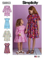 Simplicity Children's Dresses Sewing Pattern 8853