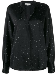 Vince Polka Dot Blouse Black