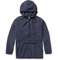 Remi Relief Cotton Ripstop Hooded Jacket Navy