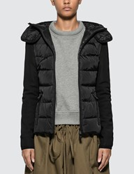 Moncler Hooded Down Cardigan Black