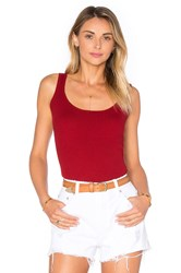Frame Denim Le Rib Tank Red
