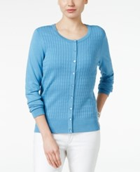 Charter Club Textured Cardigan Only At Macy's Smokey Sky