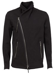 The Viridi Anne The Viridi Anne Off Centre Zip Jacket Black