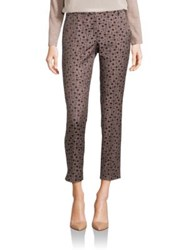 Peserico Printed Cotton Blend Pants Black Taupe