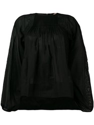N 21 No21 Embroidered Design Blouse Black