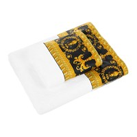 Versace Home Barocco And Robe Towel White Gold Black