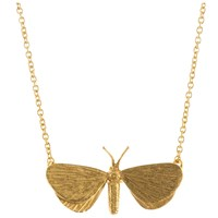 Alex Monroe Looper Moth Pendant Necklace Gold