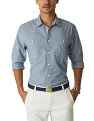 Dockers Plus Print Chambray Sportshirt Blue