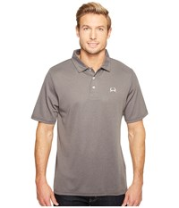 Cinch Athletic Tech Polo Heathered Heather Gray Men's Clothing