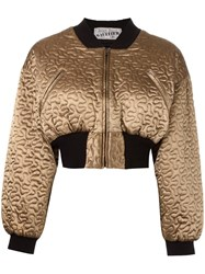 Jean Paul Gaultier Vintage Cropped Bomber Jacket Metallic