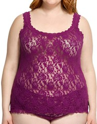 Hanky Panky Plus Floral Lace Unlined Camisole Fine Wine