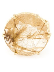 Wouters And Hendrix Rutilated Quartz Ring Metallic