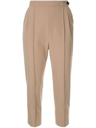 Loveless Cropped Tailored Trousers Neutrals