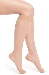 Women's Item M6 Sheer Compression Knee High Socks Savanna
