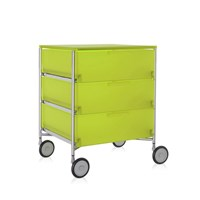 Kartell Mobil 3 Drawer Wheels Citron Yellow