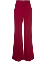 Alice Olivia Wide Leg Trousers Red