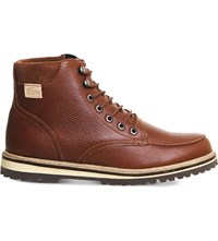 Lacoste Montbard Leather Boots Tan