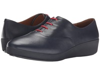 Fitflop F Pop Oxford Supernavy Leather Women's Lace Up Casual Shoes