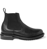 Solid Homme Leather Chelsea Boots Black