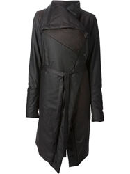 Lost And Found Padded Wrap Coat Black